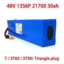 LiitoKala – batterie Lithium-ion 13S6P 48V, 30ah, 21700, 54.2 mah, pour vélo et Scooter électrique, avec Protection BMS