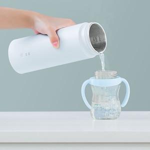Image 5 - VIOMI חשמלי תרמוס כוס בקבוק נייד בקבוק נירוסטה חימום תרמית ספל תה קפה נסיעות קומקום 400ml