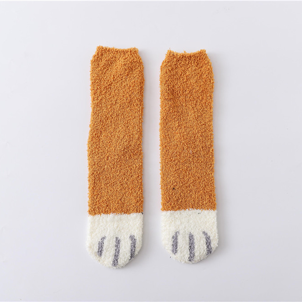 Womail Long Socks Women Winter Lovely Cat Claw Coral Women Sock Set Warm Socks For Woman Winter
