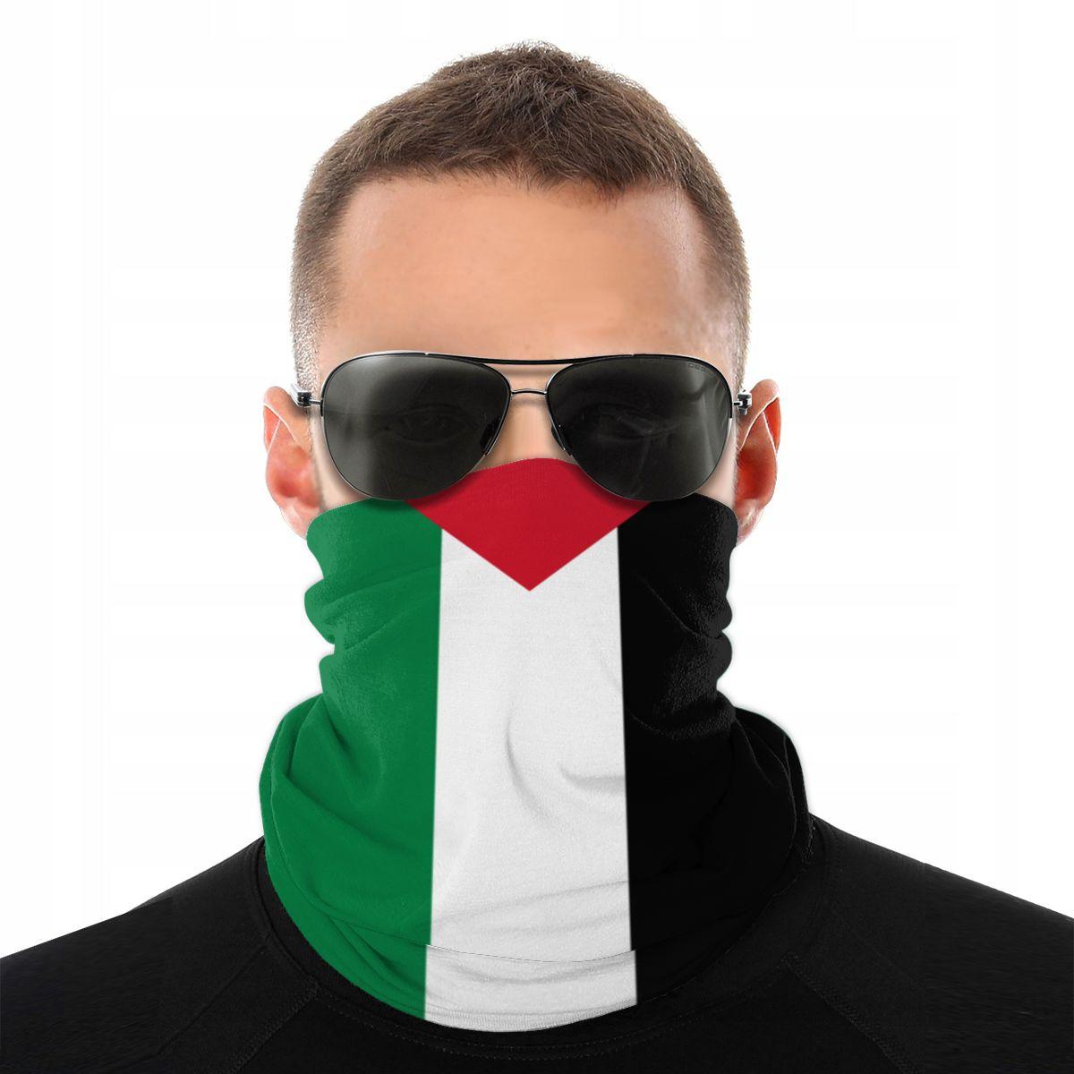 Palestine Flag Scarves Half Face Mask Men Women Halloween Neck Gaiter Neck Bandanas Multi-functional Headwear Cycling Hiking