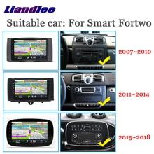 Lecteur multimédia de voiture pour Smart Fortwo 450 W451 W453 2007 ~ 2018 Radio android accessoires Carplay carte GPS Navi système de Navigation