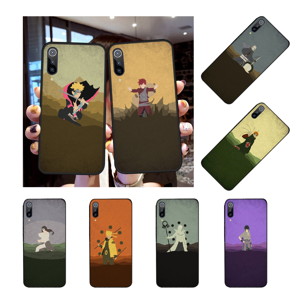 NBDRUICAI Anime Naruto Minimalist Soft Silicone TPU Phone Cover for Redmi Note 8 8A 7 6 6A 5 5A 4 4X 4A Go Pro Plus Prime