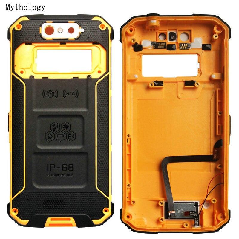 Back Cover For Blackview BV9500 Speaker Case Screws Fingerprint Button Microphone FPC Mobile Phone Back Housing For BV9500 Pro