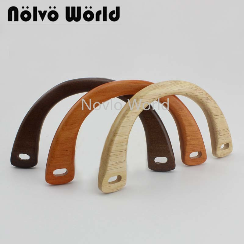 2 Pairs=4 Pieces,3 Colors 15*8cm Arch Bridge Shaped Quilting Crafts Supply For Design Wood Backpack Bag Purse Small Handle Parts