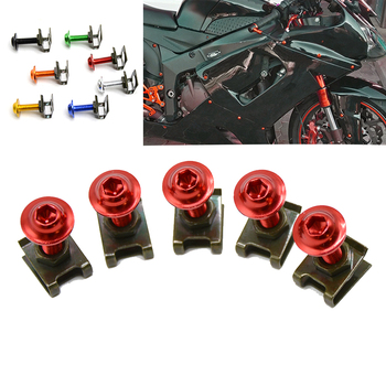 For BMW F750GS F800GS F800GS AdventuRe F800GT F800R 5PCS/Set CNC Alloy Fairing Bolts Kit Bodywork Screws Nut 7 colors Motorcycle image