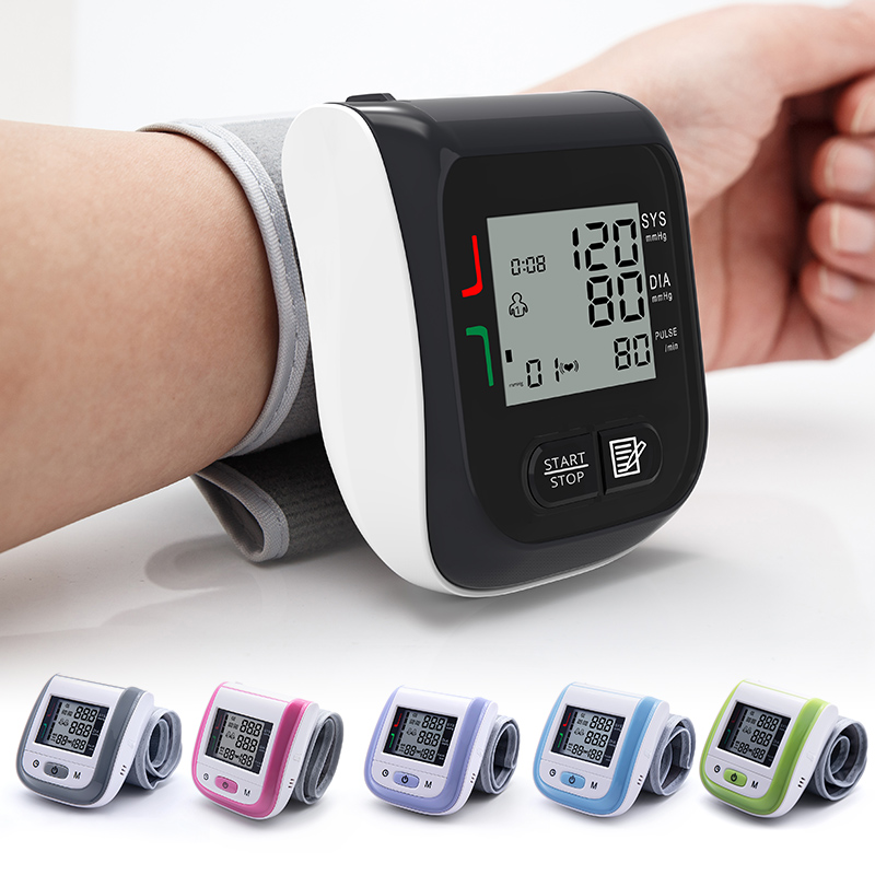 Medical Digital Blood Pressure Monitor Wrist Blood Tonometer Automatic Sphygmomanometer Blood Pressure Meter Tensiometro