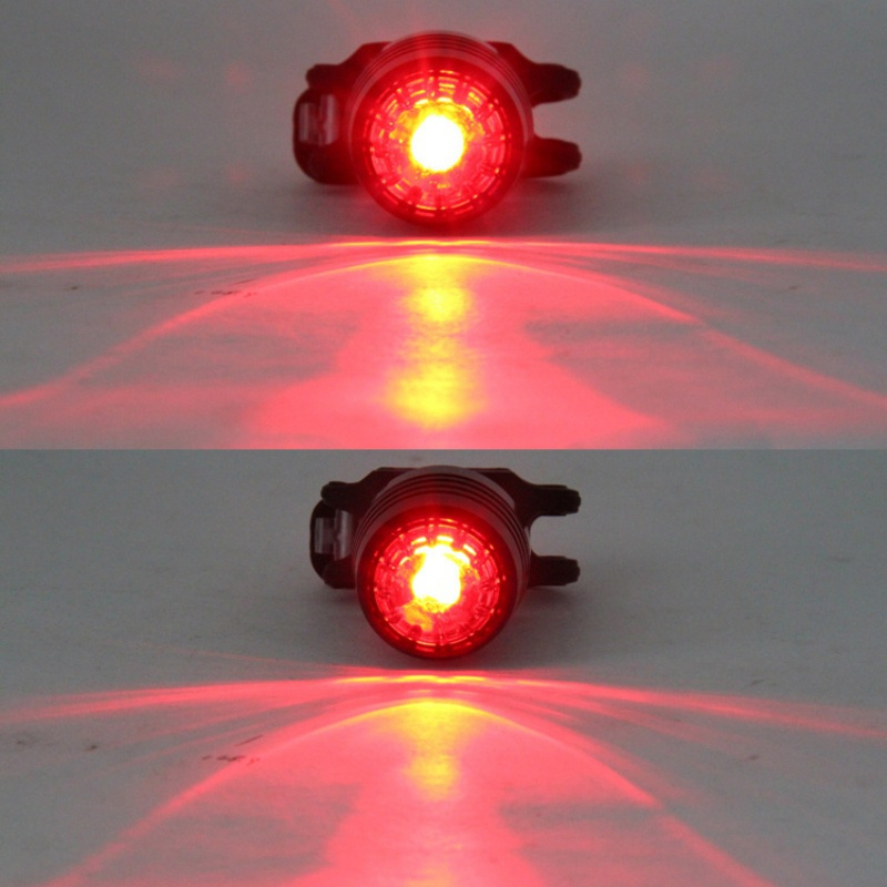 1 <font><b>Set</b></font> Newest <font><b>USB</b></font> Rechargeable 3-Mode Aluminum Alloy Bicycle Headlight Waterproof <font><b>Bike</b></font> Tail Rear Warning Red <font><b>Light</b></font> Lamp image