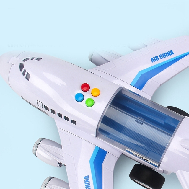 Music Story Simulation Track Inertia Children'S Toy Aircraft Large Size Passenger Plane Kids Airliner Toy Car 3