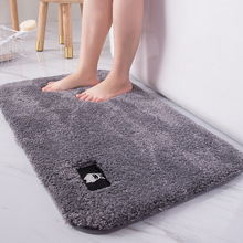 Thick velvet super absorbent bathroom door mats, non-slip bedroom mats, bathroom carpets, kitchen mats