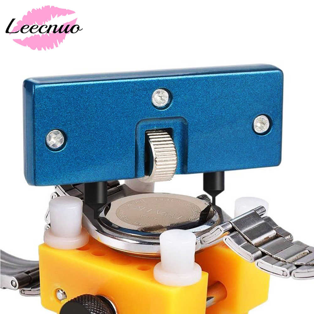 Leecnuo Adjustable Watch Case Opener Repair Watchmaker Tool Wristwatch Battery Remover Watch Repair Tools Two Feet Opening Screw
