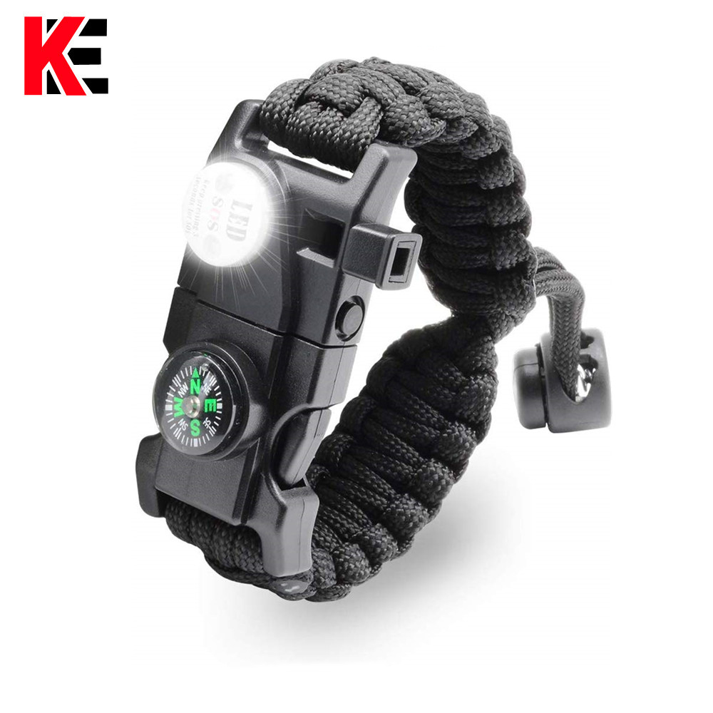 Multifunctional Outdoor Survive Paracord Survival Bracelet Camping Equipement Multi Tool Rescue Rope Bracelet For Men