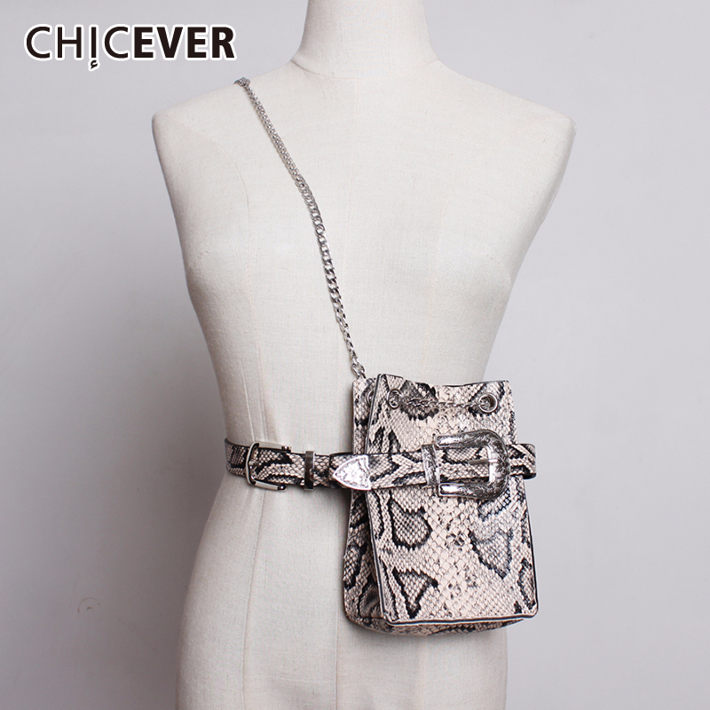 CHICEVER Print Hit Color Chain Bucket Bag Women Korean Chic Style Female Bags Spring Summer Fashion Clothes Accessories 2020 New