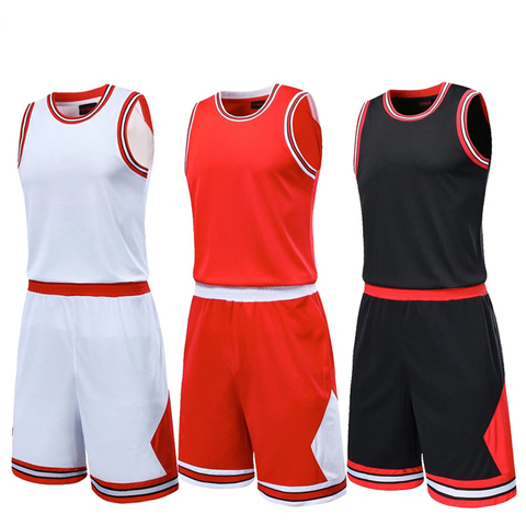 Americano de Basquete Personalizado Masculino Chicago Secagem Rápida Impressão Digital Wear Jérsei Conjunto Bolso Shorts Gym