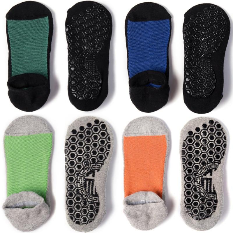 Pair Men\\'s Cotton Non slip Yoga Socks