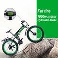 Электрический Снежный велосипед Fat складной велосипед 48 в * 500 Вт литиевая батарея алюминиевая рама и светодиодный светильник SHIMANO трансмисс...