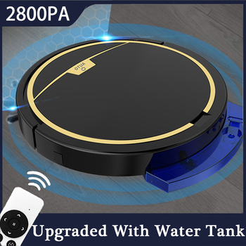 2800Pa Robot Vacuum Cleaner Remote Control With Water Tank Wet
