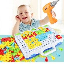 Игрушки для мальчиков, электрическая дрель, гайка, головоломка, разборка, детские инструменты, набор, обучающие игрушки для детей, для мальчиков, дизайнерская Строительная игрушка