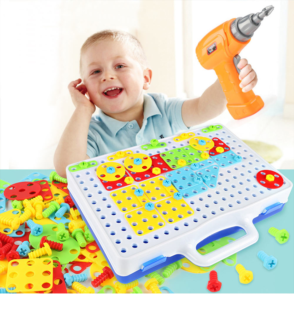 Toys For Boys Electric Drill Nut Puzzle Disassembly Children's Tools Set Educational Toys For Children Boys Design Building Toy