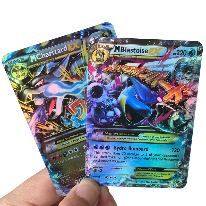 TAKARA TOMY Pokemon 60 100 200PCS GX EX MEGA Cover Flash Card 3D Version SUN MOON LOST THUNDER Cards Collectible Gift Kids Toy