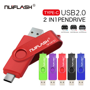 Full Colorful TypeC 2.0 USB Flash Drive 8GB 16GB 32GB 64GB 128GB USB Stick Pen drive High Speed Pendrives for Smart Phone/Laptop