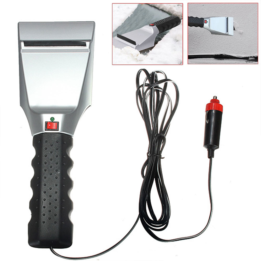 Vehemo Plastic Electric Windshield Heating Snow Car Electric Windshield Heated Universal Ice Scraper Auto Electric Windshield