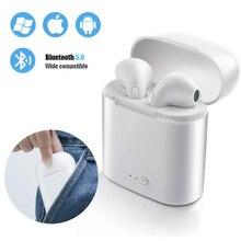 лучшая цена i7s TWS Mini Wireless Bluetooth Earphone 5.0 Stereo Earbud Headset With Charging Box Mic For huawei Xiaomi All Smart Phone