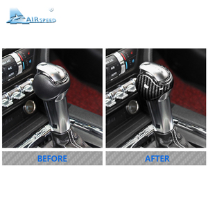 Image 5 - Airspeed for Ford Mustang Carbon Fiber Sticker Ford Mustang Accessories 2015 2016 2017 2018 2019 Interior Gear Shift Knob Cover
