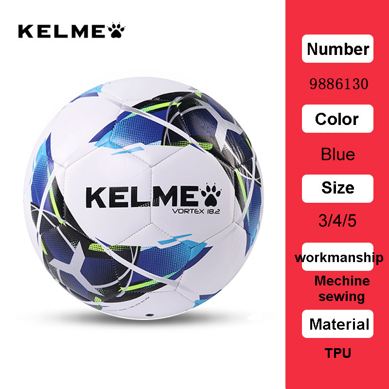 KELME Professional Football Soccer Ball TPU Size 3 Size 4 Size 5 Red Green Goal Team Match Training Balls 9886130 18