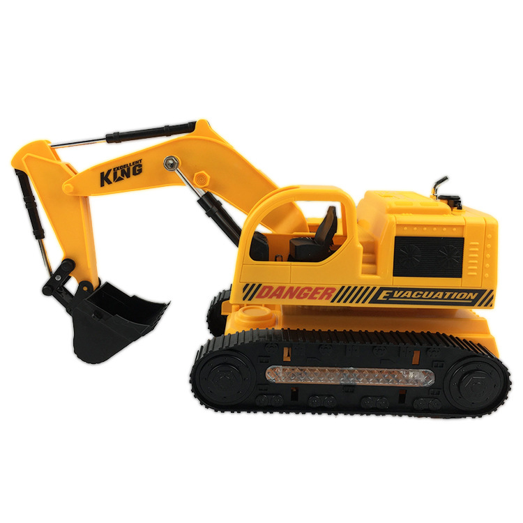 Xing's Children Electric Excavator Engineering Electric Car Model Music Lights Universal Bulldozing Excavator Toy