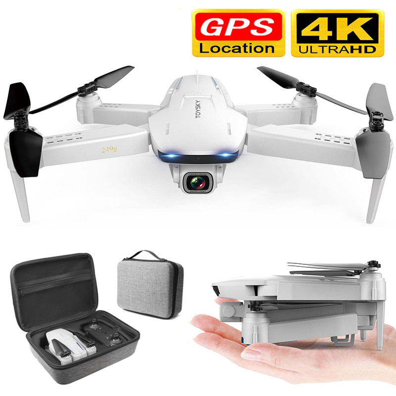 New GPS Foldable Drone with Dual Camera 4K HD 1600W Plxels 50 Times Zoom 5G WiFi FPV Optical Flow RC Quadcopter Helicopter image