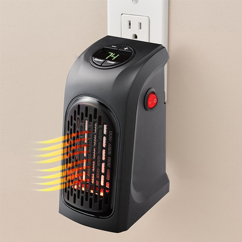Electric Wall Heater Mini Portable Plug-in Personal Space Warmer For Indoor Heating Camping Any Place Adjustable Mini Heater