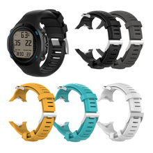 Silicone Watch Band Strap Sport Soft Diving Rubber Clock Watchbands Wrist Strap Buckle for SUUNTO D6