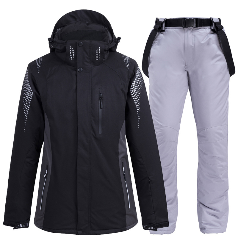 2019 New Thermal Winter Ski Suit Men Women Windproof Waterproof Skiing And Snowboarding Jacket Pants Suit Male Snow Costume Wear