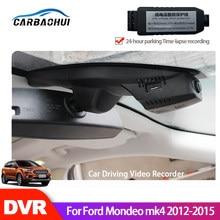 Condução do carro gravador de vídeo câmera traço cam para ford mondeo mk4 2012 2013 2014 2015 hd completo 1080p novatek 96658 visão noturna ccd