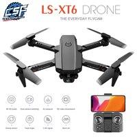 2020 neue XT6 Mini 4K HD Drone Doppel Kamera WiFi Fpv Luftdruck Höhe Halten Faltbare Quadcopter rc hubschrauber kind Spielzeug Geschenk