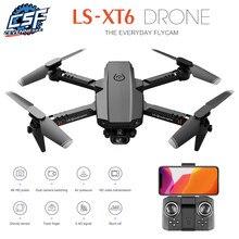 2021New XT6 Mini Drone 4K HD Caméra Avec WiFi Pression D'air Maintien D'altitude Pliable Quadrirotor RC Hélicoptère Jouets Pour Enfants Cadeaux