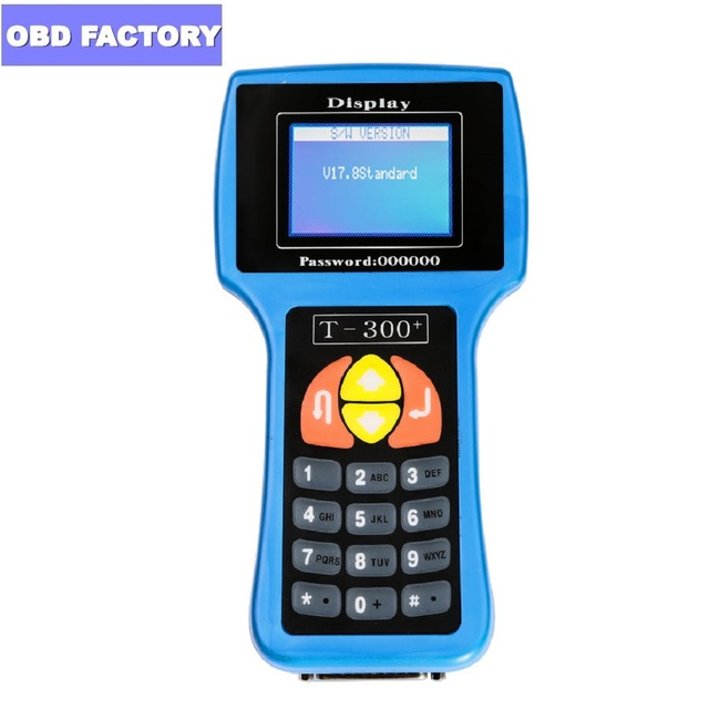 V17.8 English/Spanish T300 Key Programmer T 300 Decoder T Code Key Transponder Car Key Programmer T 300 Key Copy Tool T 300