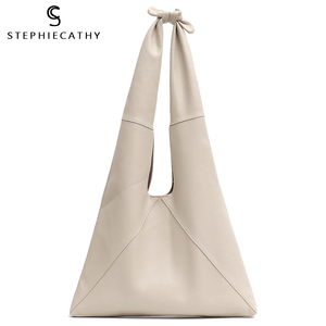 Image 1 - SC Knotted Handle Cow Leather Hobo Bag Femal High Quality Luxury Design Brand Genuine Italian Leather Big Women Shoulder Bags