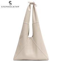 SC düğümlü kolu inek deri Hobo çanta kadın yüksek kaliteli lüks tasarım marka hakiki İtalyan deri büyük kadın omuz çantaları