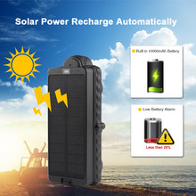 Solar GPS GSM Tracker TK10SSE With Strong Magnet 10000mAh battery Waterproof IPX7 Long Standby Time Free website/APP(China)