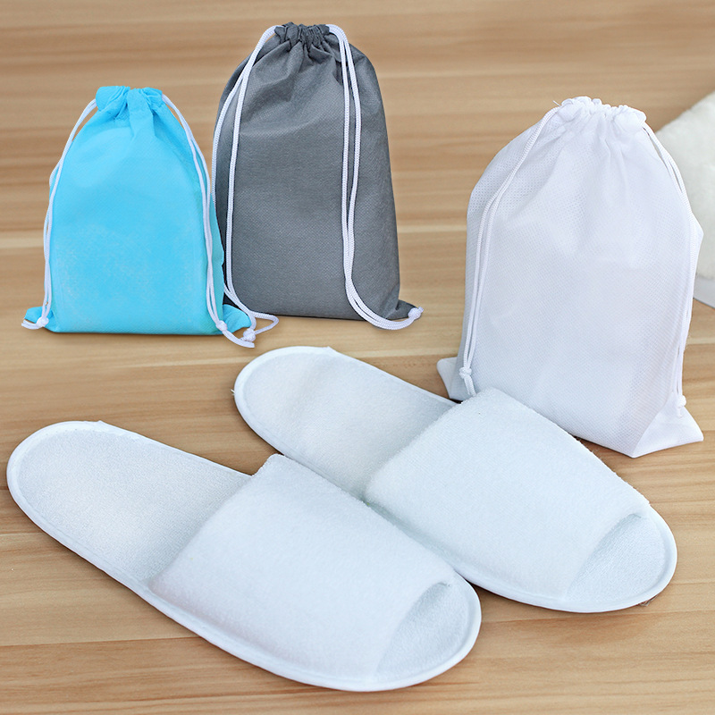 1Pair Portable Slippers Hotel Travel Spa Folding House Disposable Home Guest Big Size Shoes Simple Indoor Slippers For Men Women