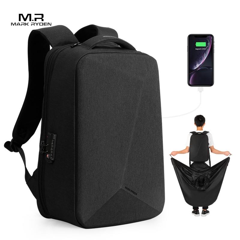 Mark Ryden nouveau Anti-voleur TSA serrure hommes sac à dos imperméable 15.6 pouces pochette d'ordinateur homme sac de voyage