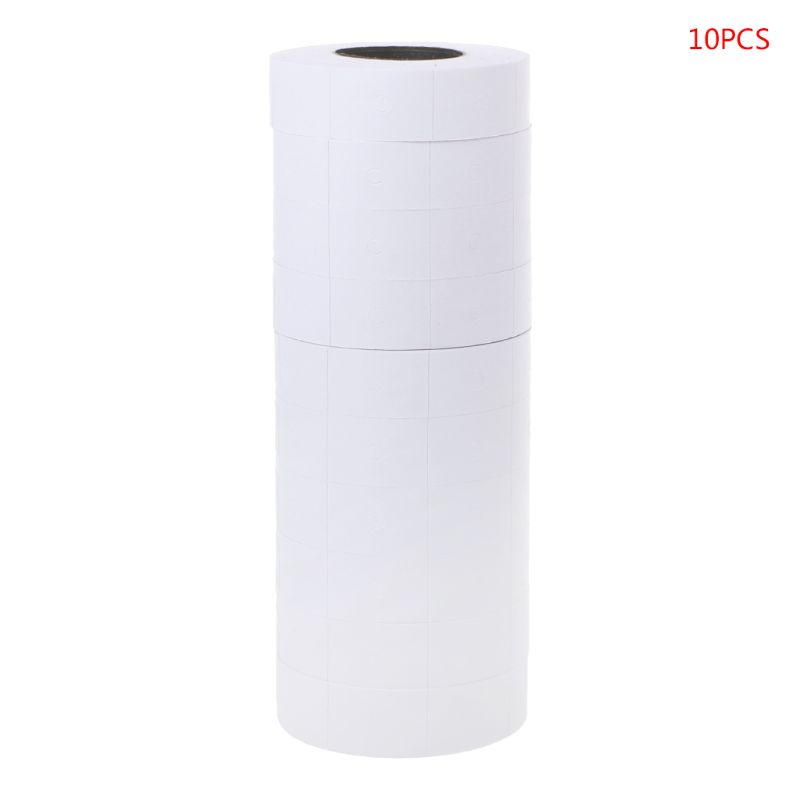 10 Rolls Price Label Paper Refill Tag Mark Sticker Double Row For MX-6600 Labeller