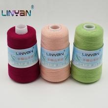100g * 3 stück threadlet 100% Kaschmir faden Hand stricken & häkeln dicke Reine ziege wolle garn für stricken & häkeln ZL7
