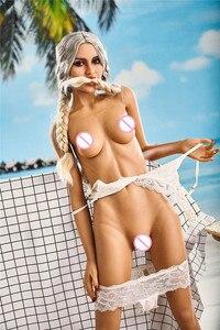 Image 2 - 165cm Jessica miłość lalka wykwintne duże piersi silikonowe seks lalka mężczyzna realistyczne pochwy oralny tyłek TPE ze szkieletem