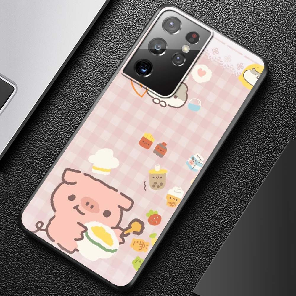 Cute Cat Animal Restaurant Game Phone Case For Coque Samsung Galaxy S21 Ultra S20 FE 5G S10 S9 Plus S8 S10e Silicone Cover