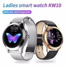KW10 Women Watch Fitness Smart Band Intelligent Clock Pedometer Bracelet  Pressure Measurement Heart Rate Monitor Lady Female
