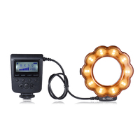 Macro LED Ring Round Flash Fill in Light Lamp Brightness Adjustable LCD Display for Canon Nikon DLSR Camera Studio Photography