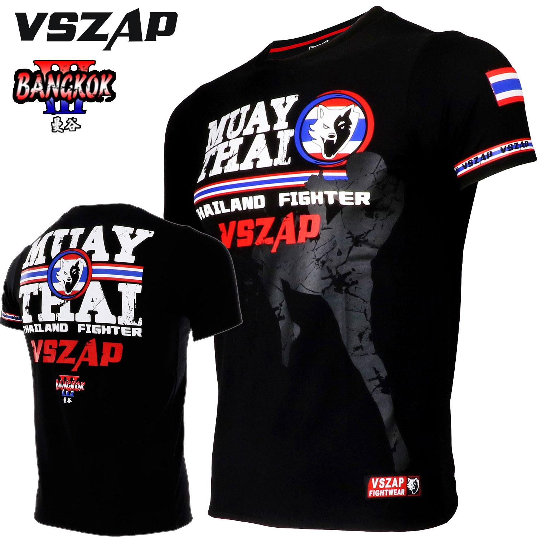 Vszap Muay Thai Short Sleeve Fighting T-shirt Fighting Sanda Fitness Gym Training Suit Jiu-jitsu Mma Sports Workout Shirts Modern Design