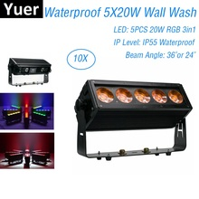 IP55 Disco Decorations Wall Wash Light 5X20W RGB 3IN1 Stage Bar Washer Waterproof Strobe Control Dj